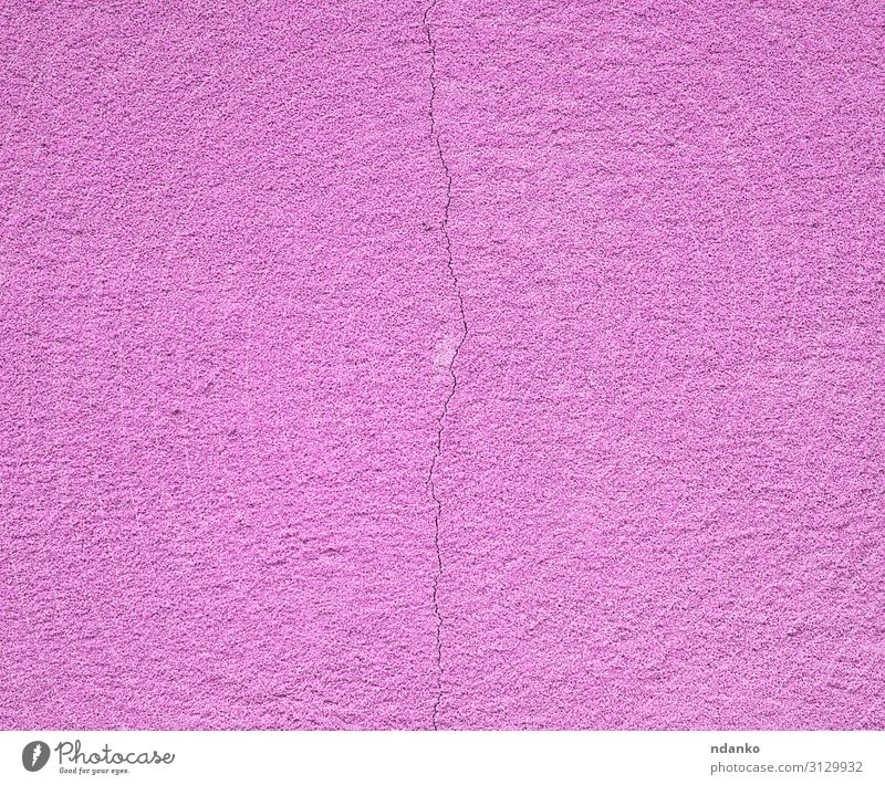 purple cement wall with a crack Design Building Architecture Stone Concrete Old Natural Retro Pink Colour Torn background Cement construction Crack & Rip & Tear