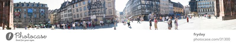 Square in Strasbourg Wide angle Panorama (View) Places Europe Münster Human being Large Panorama (Format)