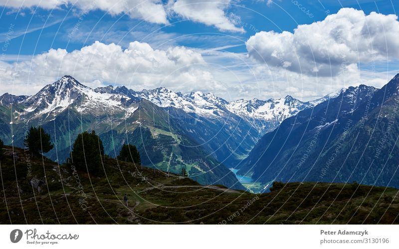 View of the mountains of the Zillertal alpine landscape Vacation & Travel Tourism Far-off places Freedom Summer Summer vacation Mountain Hiking Climbing