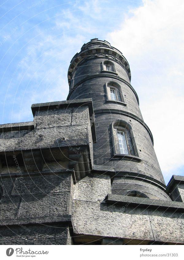 Sky Blue Clouds Wall (barrier) Architecture Tower Scotland Edinburgh