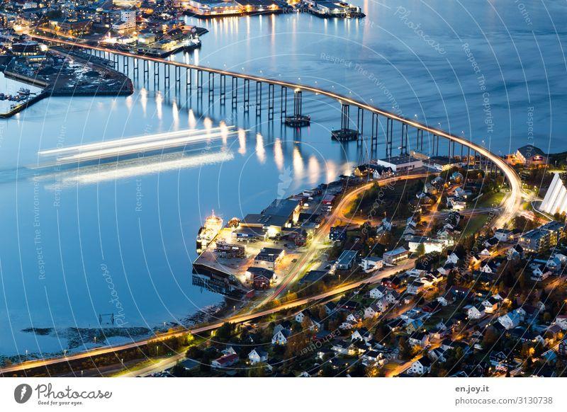 Hurtigruten Vacation & Travel Tourism Trip Far-off places Sightseeing City trip Cruise Ocean Island Tromsø Norway Scandinavia Bridge Navigation Energy