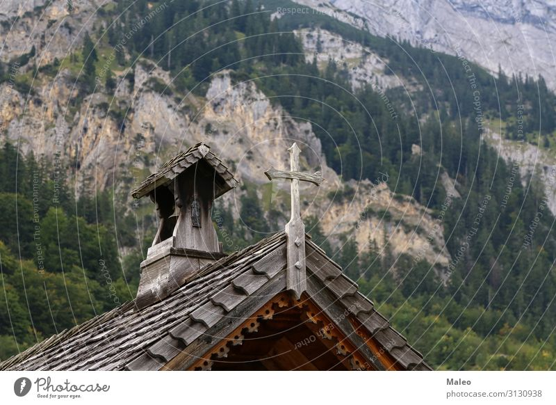Small wooden church in the Alps Religion and faith Church Nature Vacation & Travel Travel photography Architecture Europe Austria Hill Landscape Mountain