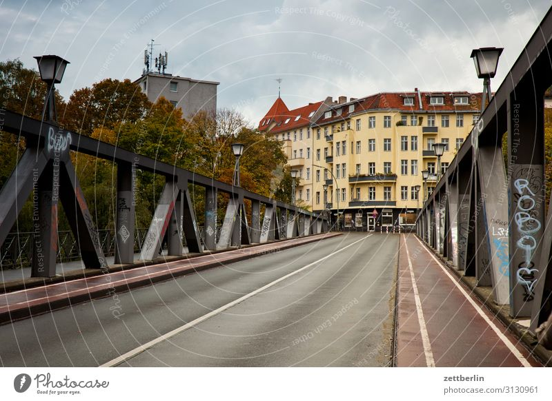 Langenscheidt Bridge, Schöneberg Berlin Town Street City life Living or residing Residential area langenscheidtbrücke Transport Calm Deserted Empty Sunday