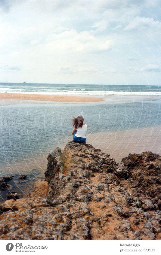 Water Ocean Loneliness Dream Lake Rock