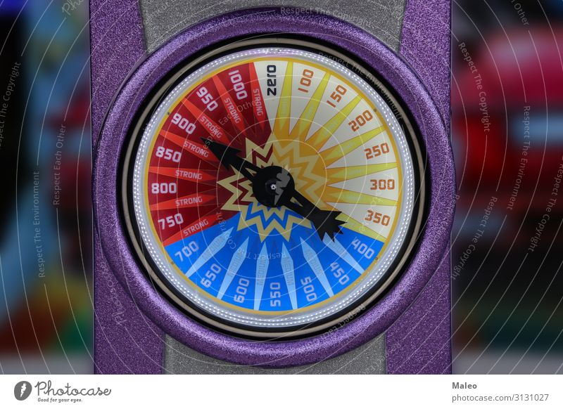 The impact force is shown on a large colour display. Power Force Display Background picture Concepts &  Topics Close-up Illustration Strong Equipment Fist