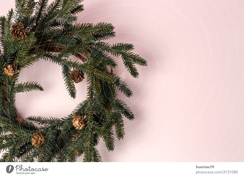 Background with Christmas Decoration Composition Christmas & Advent Red Joy Winter Emotions Family & Relations Happy Feasts & Celebrations Above Design Table