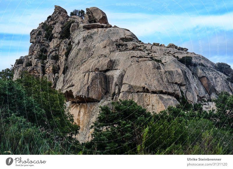 Monolith in Sardinia Geology Aggius Rock Stone Tempio Pausania Landscape granite landscape Valle della Luna Skittle island mountain Mountain Cone gallura
