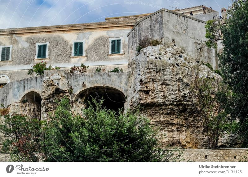 House built on rocks in Sardinia House (Residential Structure) Building Rock stone rock solid sedini Old building stable Old town Caves undermine Architecture