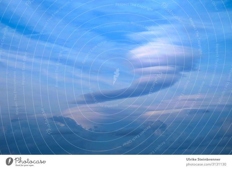 Cloud swirl in the blue sky vertebra airflow Tornado Clouds Cloud pattern tornado Sky jumbled up whirlwind Cloud formation Blue Airy stormy air masses Weather
