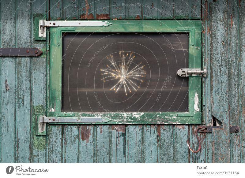 Old Window Wood Dye Illuminate Door Stars Electric Checkmark Locking bar Metal fitting