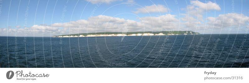 Water Sky Clouds Large Horizon Baltic Sea Panorama (Format) Rügen Kreidefelsen Königsstuhl