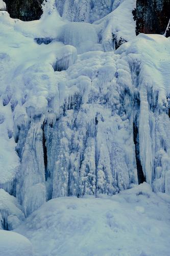 Nature Water Landscape Winter Dark Environment Cold Natural Exceptional Ice Sleep Frost Frozen Canyon Freeze Waterfall