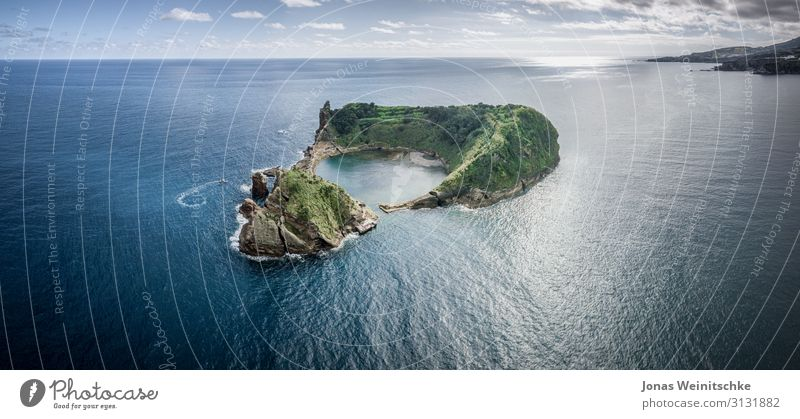 Small island of Vila Franca do Campo near Sao Miguel Vacation & Travel Tourism Trip Far-off places Freedom Sightseeing Summer Summer vacation Sun Island Waves