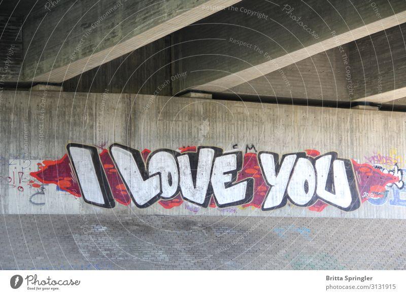 I Love You Happy Valentine's Day Wedding Art Bridge Concrete Touch Argument Joie de vivre (Vitality) Infatuation Beginning grafiti Exterior shot Deserted