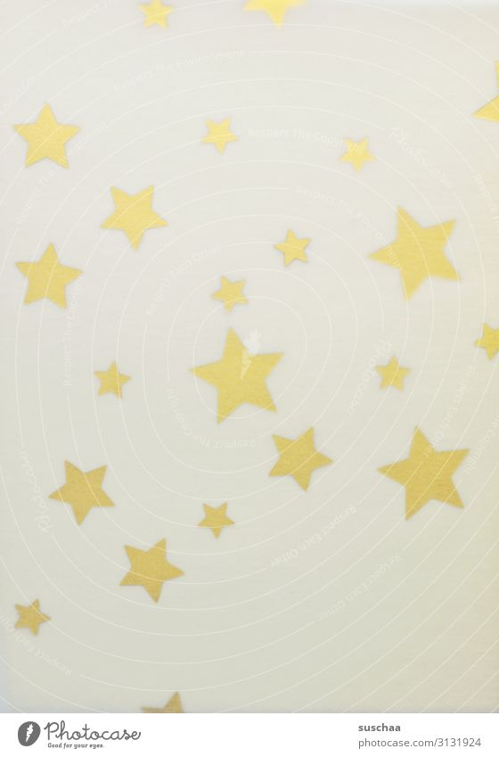 stars, shimmering through Star (Symbol) Many Simple Neutral Background Difference Delicate transparent Lighting Glimmer Blur transparent paper Bright Yellow