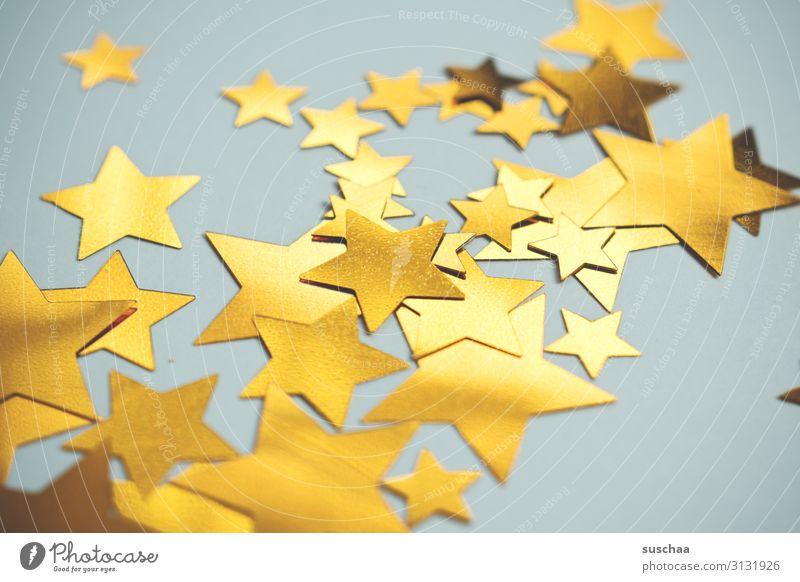 Christmas & Advent Yellow Decoration Bright Illuminate Star (Symbol) Simple Card Many Muddled Christmas decoration