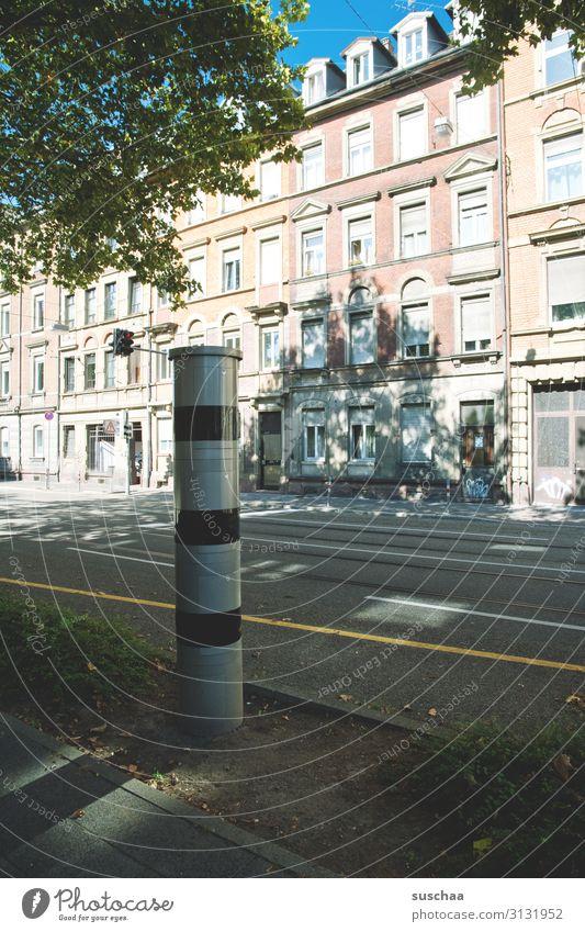 lightning thing Road traffic Street Speed control Car Town Karlsruhe Baden-Wuerttemberg Motoring Traffic regulation Testing & Control Bans Vehicle spot-check