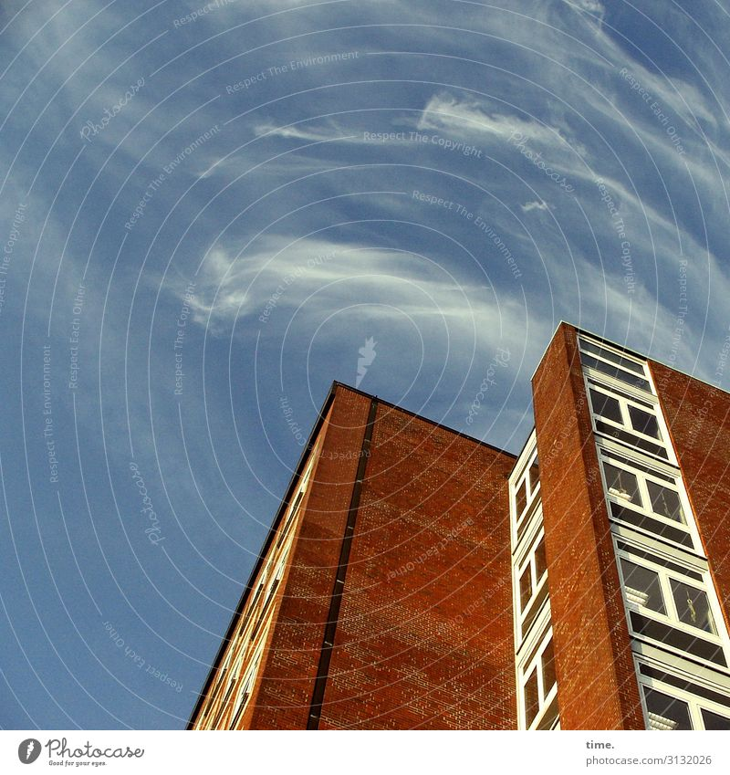 Cervical Spine Training (XI) Sky Clouds Beautiful weather Münster House (Residential Structure) High-rise Building Wall (barrier) Wall (building) Facade Window