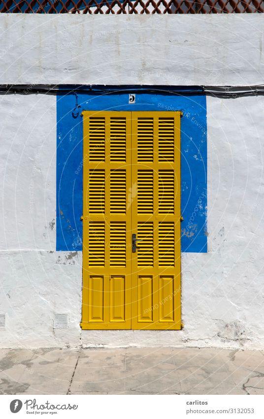 Vacation & Travel Blue Yellow Door Closed Majorca Intimacy