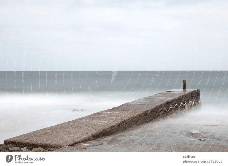 Ocean Waves Footbridge Mediterranean sea Majorca Surf White crest