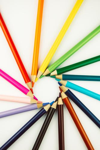 Art - art value from pens crayons variegated colourful Pattern manner Work of art Artistic circulation Round Classification Play of colours Colour palette