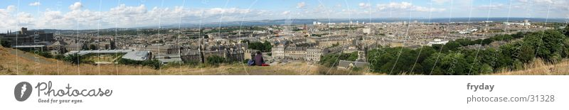 Edinburgh Panorama (View) Wide angle Scotland Town Roof Harbour Large Panorama (Format)