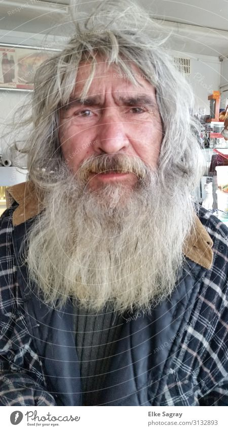 Eddi people among us.... Masculine Male senior Man Life 60 years and older Senior citizen Gray-haired Long-haired Beard Hair Old Touch Looking Exceptional