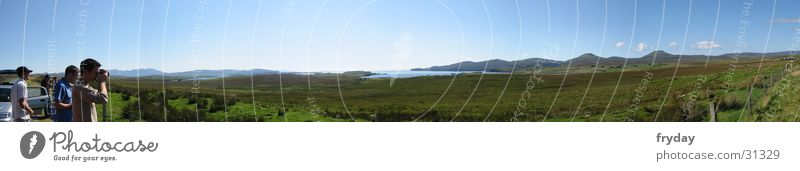 Grass Mountain Large Pasture Beautiful weather Panorama (Format) Scotland Plant Highlands