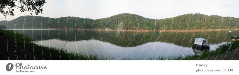 Water Lake Coast Large Panorama (Format) Lake Eder