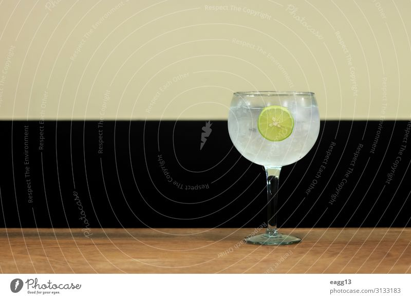 Simple drink of Gin Tonic with lemon slice Fruit Beverage Cold drink Lemonade Juice Alcoholic drinks Lifestyle Relaxation Summer Table Feasts & Celebrations