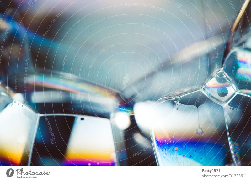 soap bubble / foam Science & Research interference colours Physics Soap bubble Foam Surface tension Fluid Multicoloured Bizarre Complex Geometry Transparent