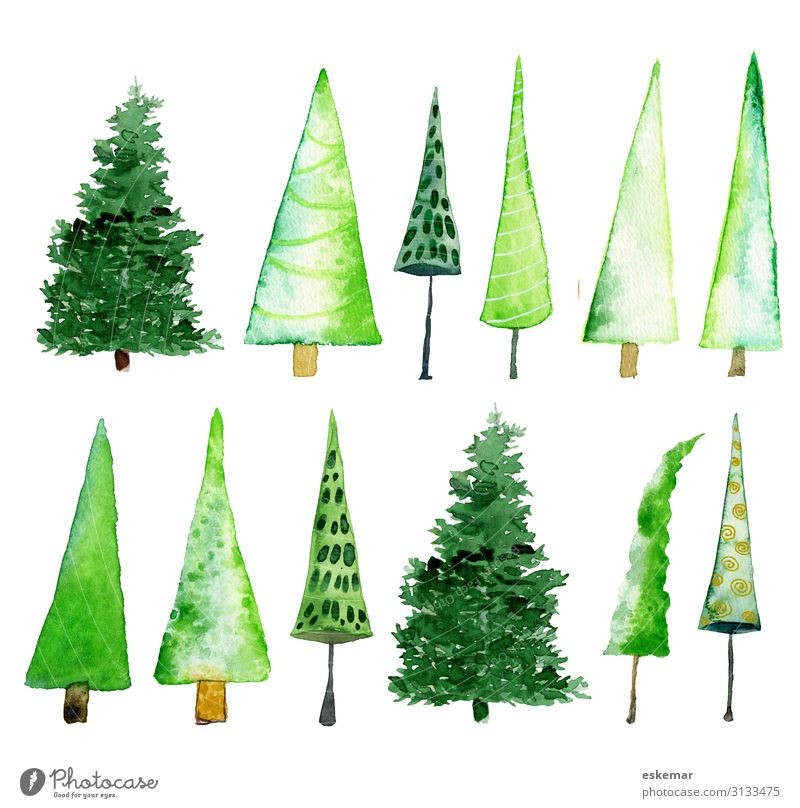 Nature Christmas & Advent Plant Green White Tree Forest Winter Feasts & Celebrations Art Moody Fresh Esthetic Happiness Cute Paper