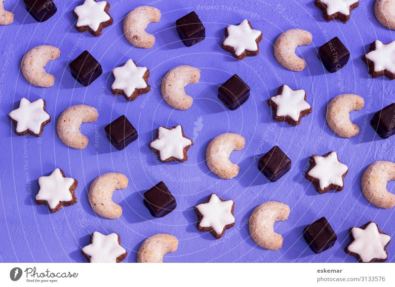 Christmas biscuits Food Nutrition Baked goods Star cinnamon biscuit Vanilla cookie domino Cookie Candy Feasts & Celebrations Christmas & Advent Esthetic