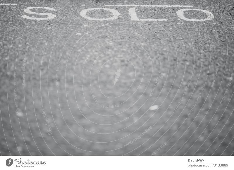 solo lettering Word solo concert on one's own by oneself Lonely Free single soloist segregated secluded disassociated forsake sb./sth. Street word picture