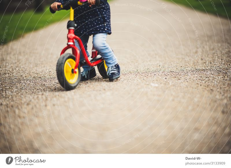 on the road with the wheel Lifestyle Leisure and hobbies Playing Trip Adventure Parenting Human being Feminine Child Toddler Girl Infancy 1 1 - 3 years Discover