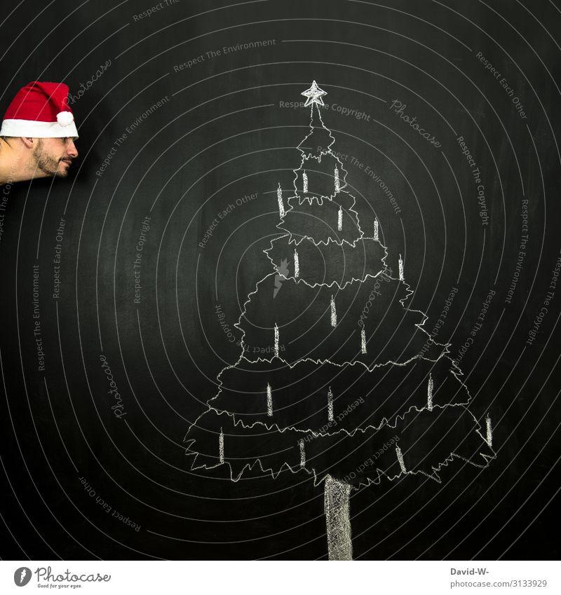 Human being Man Christmas & Advent Joy Lifestyle Adults Funny Happy Style Art Head Masculine Air Elegant Creativity