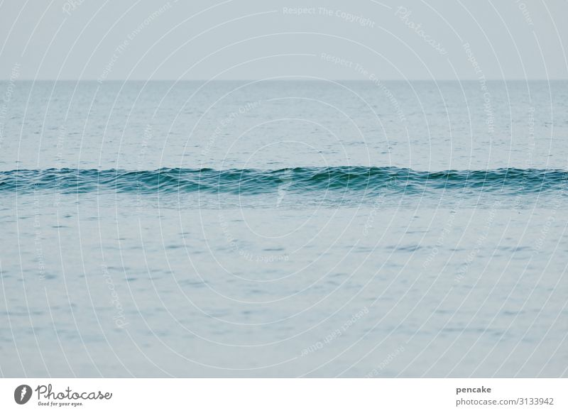 wavy Nature Landscape Elements Water Sky Baltic Sea Gloomy Waves Lifeless 1 Small Loneliness Boredom Life line Calm Long Colour photo Exterior shot Detail