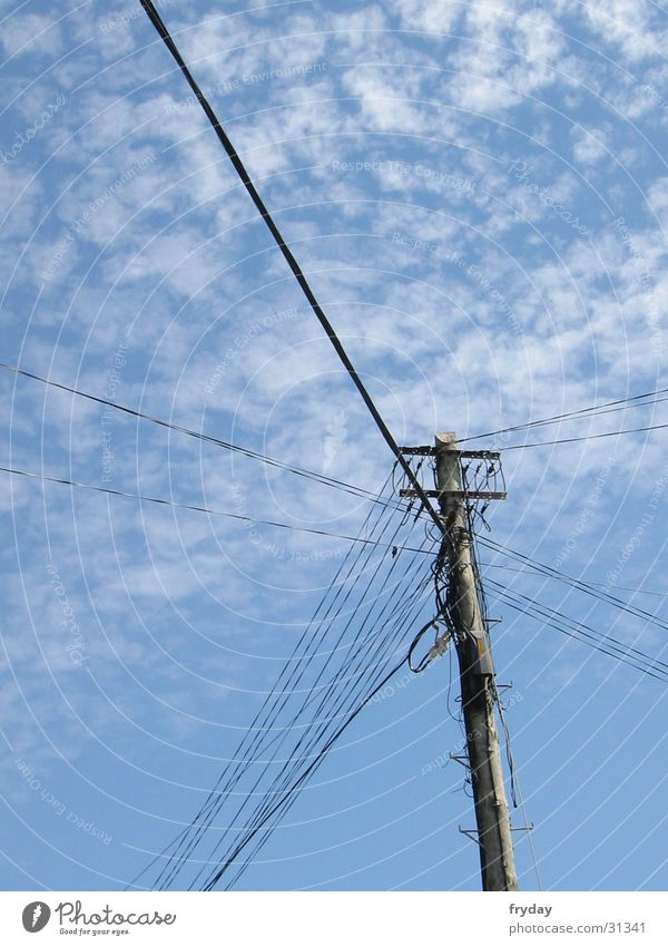 Sky Telecommunications String Cable Electricity pylon Wire Mixture