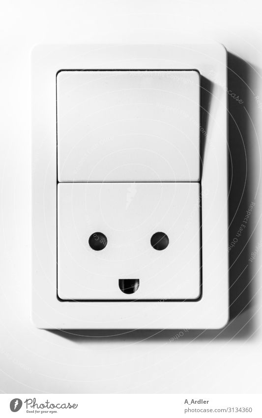 Light switch with laughing socket | Fingertip sensitivity Style Design Workplace Office Socket Switch Technology Energy industry Industry Plastic Sign Smiley