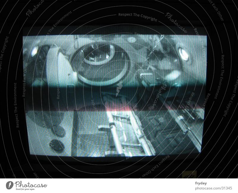ISS 1 Cologne Astronautics Small room Screen Background picture Floodgate Electrical equipment Technology DLR overpressure hyperbaric chamber Camera