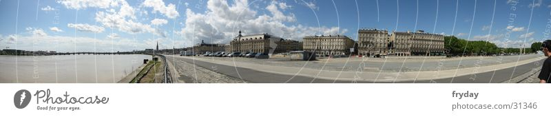 Bordeaux Panorama (View) Wide angle France Hafenstraße Europe Burgundy Harbour Large Panorama (Format)