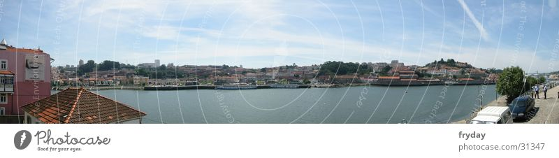 Postage II Panorama (View) Wide angle Portugal Watercraft Europe Porto Harbour Large Panorama (Format)