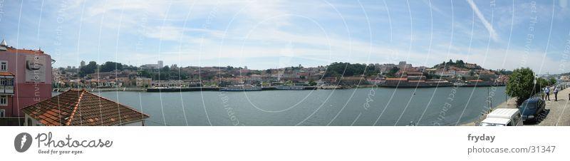 Watercraft Large Europe Harbour Portugal Panorama (Format) Porto