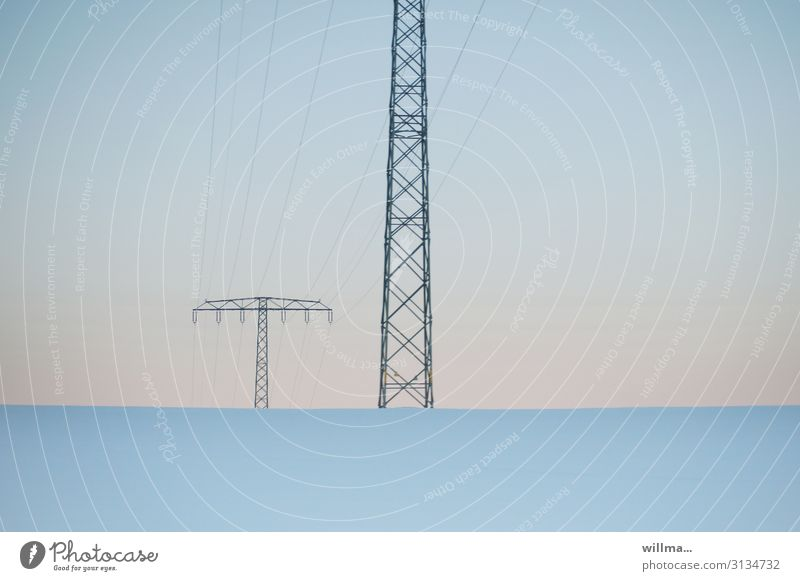 In the exciting realm of tension Technology Information Technology Energy industry Electricity pylon High voltage power line Steel lattice tower