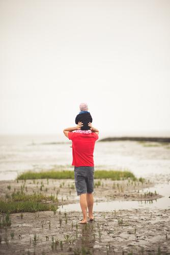 Father with child Vacation & Travel Adventure Parenting Human being Masculine Child Toddler Girl Young man Youth (Young adults) Man Adults Parents
