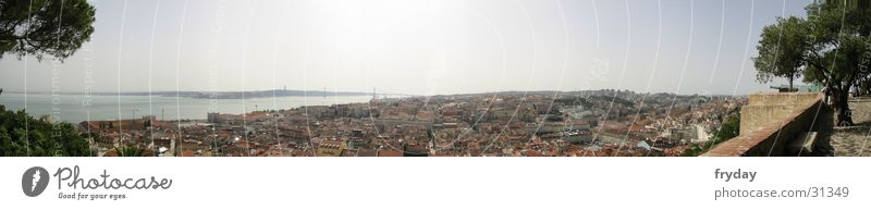 Lisbon III Panorama (View) Wide angle Portugal Town Europe Harbour Large Panorama (Format)