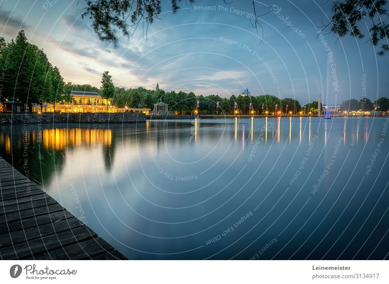 Maschsee Trip Sightseeing City trip Summer Nature Landscape Water Spring Beautiful weather Lakeside Hannover Germany Europe Town Tourist Attraction Blue Moody