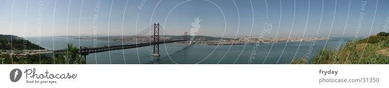 Lisbon II Panorama (View) Wide angle Portugal Europe Bridge Harbour Large Panorama (Format)