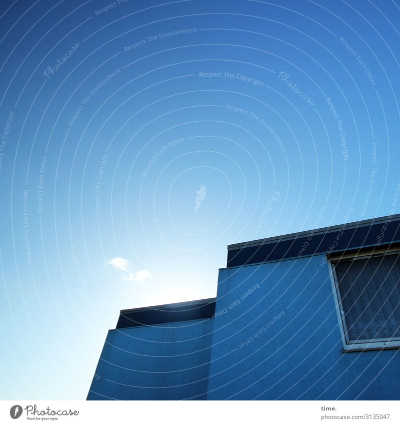 BluePage Living or residing Flat (apartment) Sky Sun House (Residential Structure) Wall (barrier) Wall (building) Window Roof Bright Moody Secrecy Watchfulness