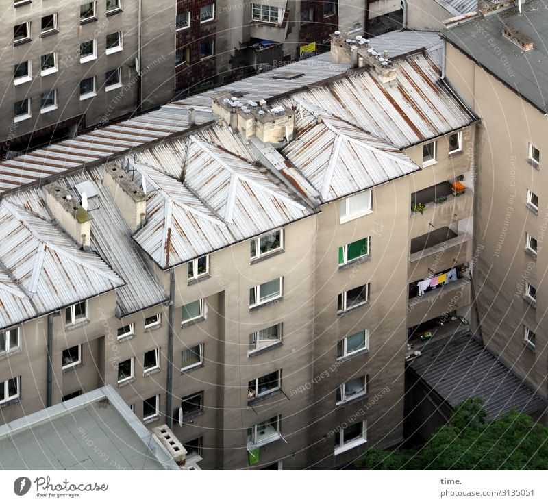 Neighbourhoods (III) Krakow Downtown House (Residential Structure) High-rise Building Architecture Wall (barrier) Wall (building) Facade Balcony Window Roof